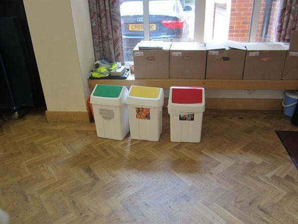 Main Hall Recycling Bins