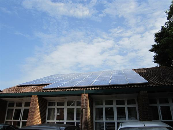 Our PV Array on the School Hall Roof
