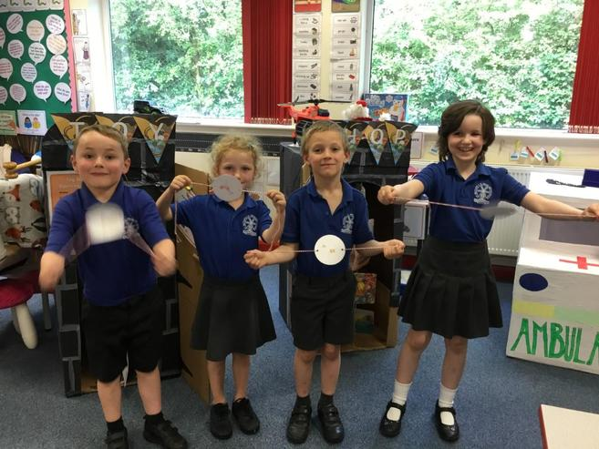 In Class One we have had great entertainment making a Thaumatrope a Victorian toy.  The ch