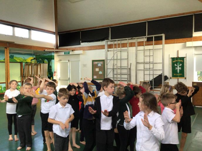 In dance, we moved to a beat as Roman soldiers, learning about why they were so successful