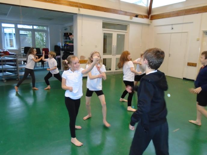 Our 'gladiator' themed dance routine, all in slow motion!