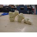 Some Barbara Hepworth inspired soap sculptures.