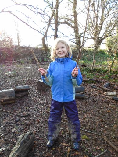 In school, we enjoyed nature in our fab Forest School area.