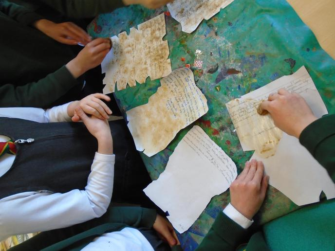 The children wrote a letter as Emperor Honorius explaining why they had to leave Britain.