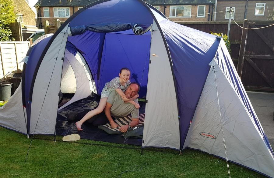 Catherine and keith's campout