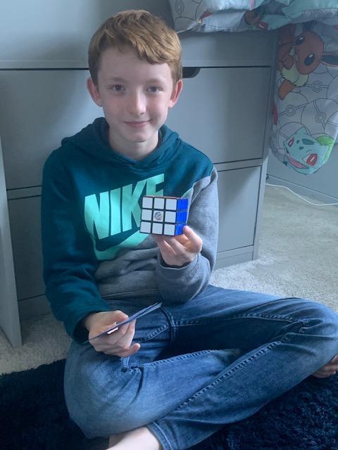 Oscar solves the Rubik's Cube conundrum!