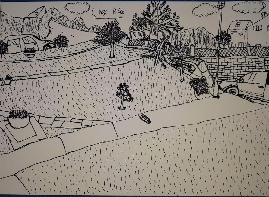 Noah's sketch of Croft Rise