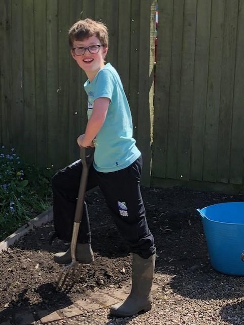 William digging an escape route