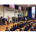 Sports Ambassadors giving out Aspire Awards