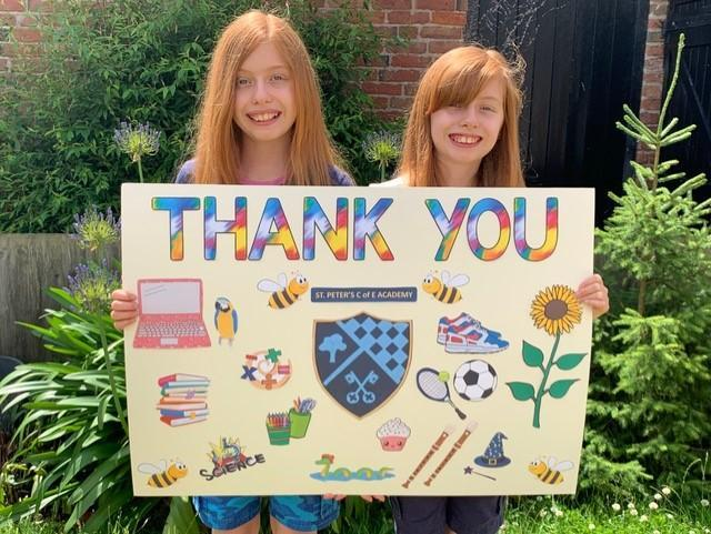 Thank you from Eleanor and Pippa