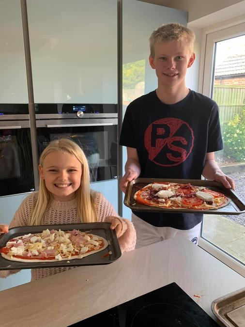 Grace and Tom the Pizza People