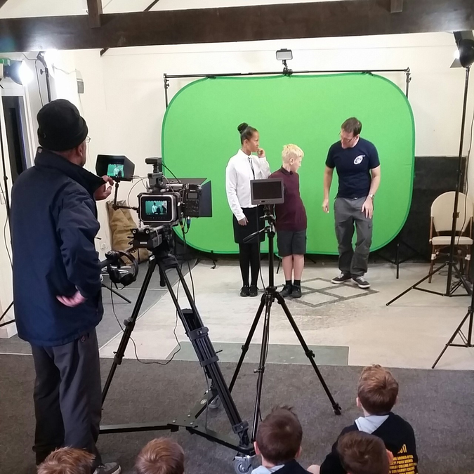 Tudor news filming day