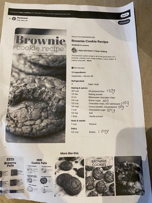Grace's cookie recipe