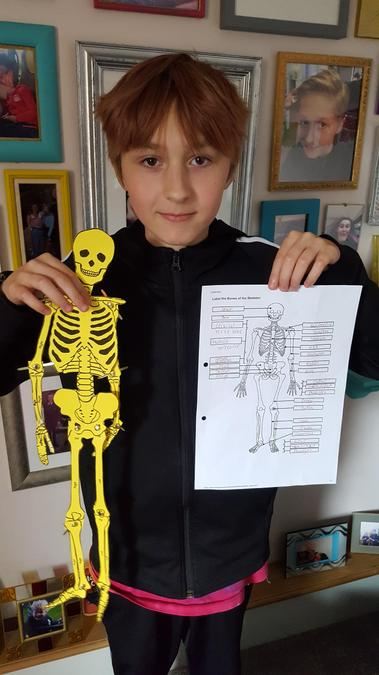 Alex and his skeleton