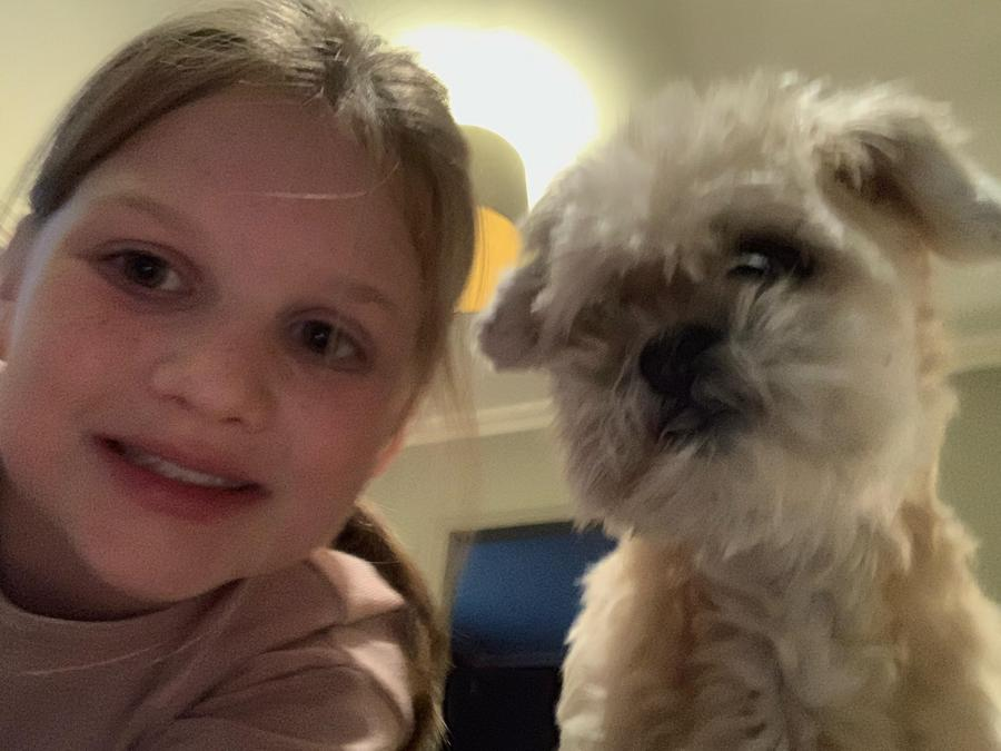 Selfie time for Lottie and Mabel