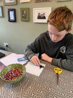 Oscar's Hama bead pixel video game art challenge