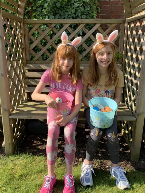 Easter Egg hunt for Pippa and Eleanor