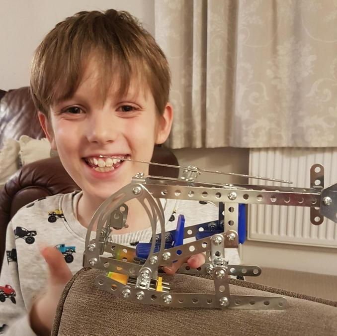 Lucas and his magnificent Meccano