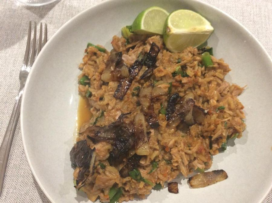 Mighty Y's tasty spicy tuna rice.