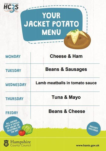 All Weeks - Jacket Potato Menu