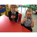 We made some origami boats.