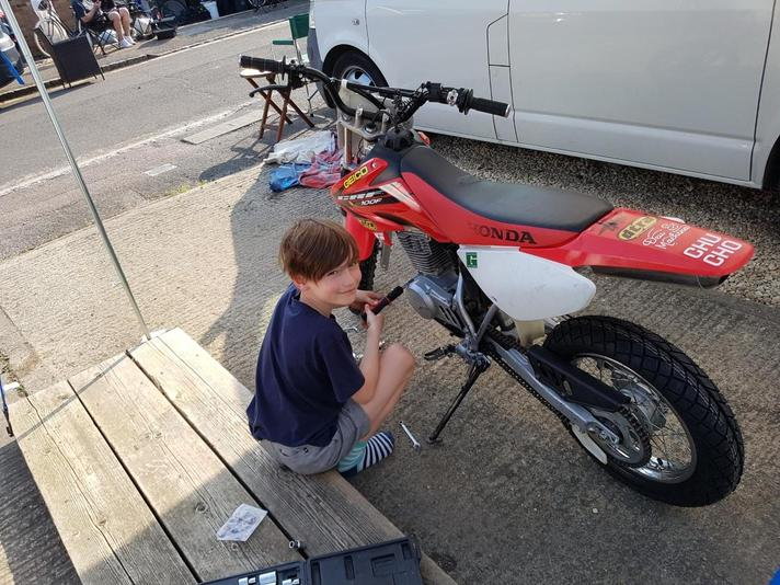 Servicing CRF100 - great practical skills!