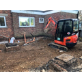 More groundworks with mini-digger