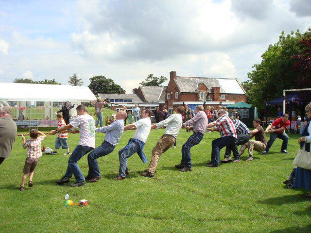 It wouldn't be the Summer Fayre without tug-of-war