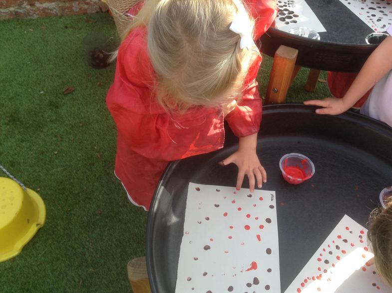 Using fingerprints to make repeating patterns.