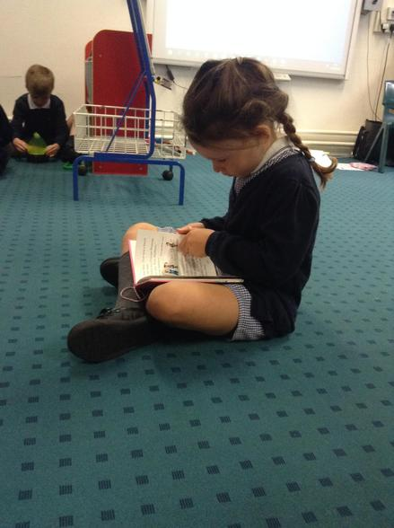 Caught reading!