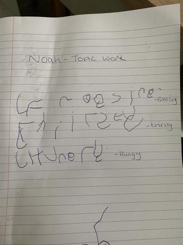 Noah's wonderful topic work!