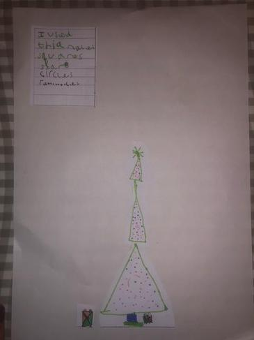 Charlie's Christmassy shape picture.