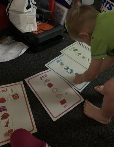 His paper pack was collected from school. He is doing an amazing job with his work!
