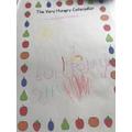 Emilia's Hungry Caterpillar writing