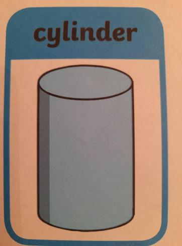 A cylinder has a curved side and 2 circle faces
