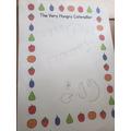 Alistair's Hungry Caterpillar writing
