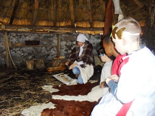 Inside Freya's roundhouse, cosy!