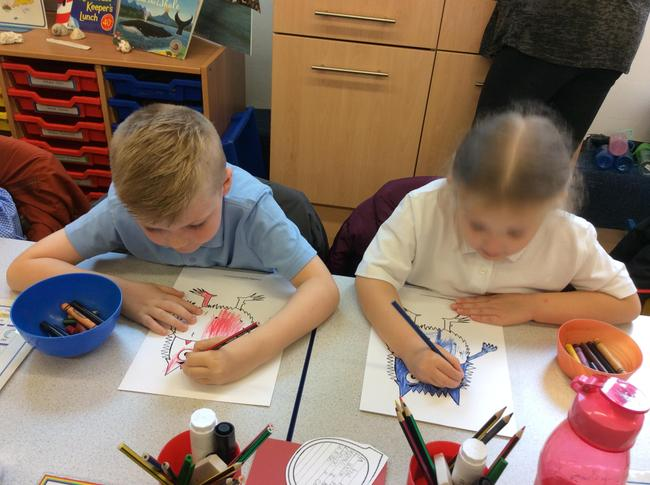 The colour monster crafts!
