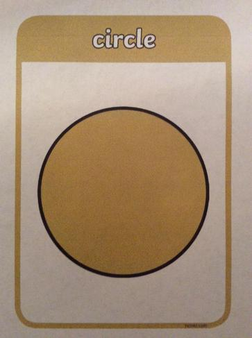 A circle has one curved side