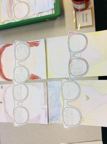 We loved writing on the large sunglasses!