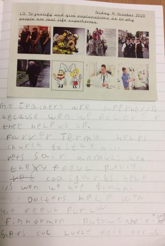 Connor's amazing writing.