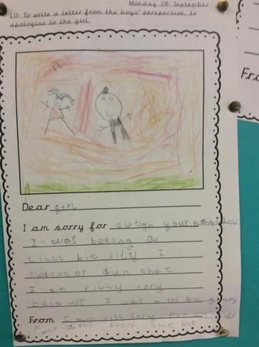 Evie M's letter