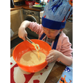 Betty has been baking