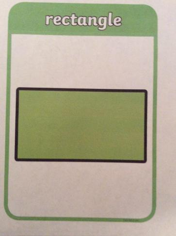 A rectangle has four corners and two short sides and two long sides