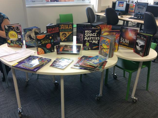 A selection of books all about our space topic