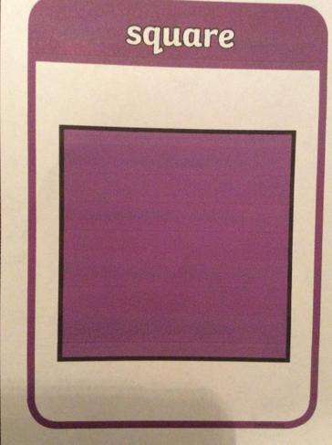 A square has four corners and four sides of equal length.