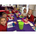 Snack time is a great way for us all to sit together and share what we have made.