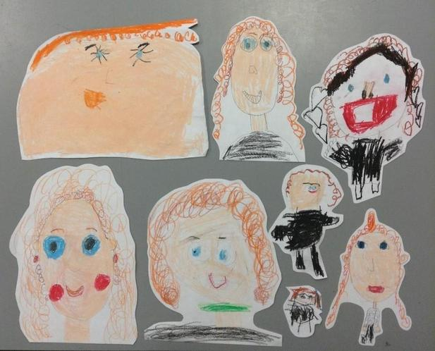 Mrs. Roberts drawn by the Nurture Group Children