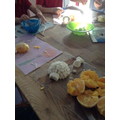 For Snack we made an edible igloo out of oranges and marshmallows. It was delicious!