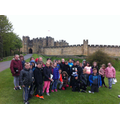 Alnwick Castle ready for the Broomstick Lesson